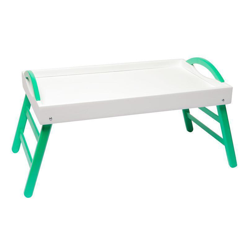 """Столик для завтрака """"Бело-зеленый"""""""