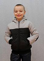 Курточка на мальчика с латками зима