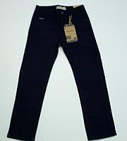 Утепленные чёрные черные подростковые джинсы