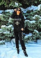"""Женский спортивный костюм """"Gucci муха"""" теплый, фото 1"""