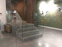 Перила  из прозрачного закаленного стекла, фото 1