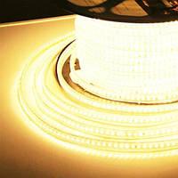 Светодиодная лента JL 3014-120 WW 220В IP68 теплый белый, герметичная, 1м
