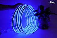 Светодиодный неон гибкий 220В 2835/120 Синий led IP68 Premium, фото 1