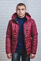 Куртка мужская на синтепоне зима бордо
