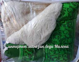 Зимнее теплое одеяло открытое на овчине евро размер, фото 2