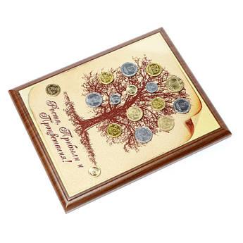 Картина денежное дерево из монеток