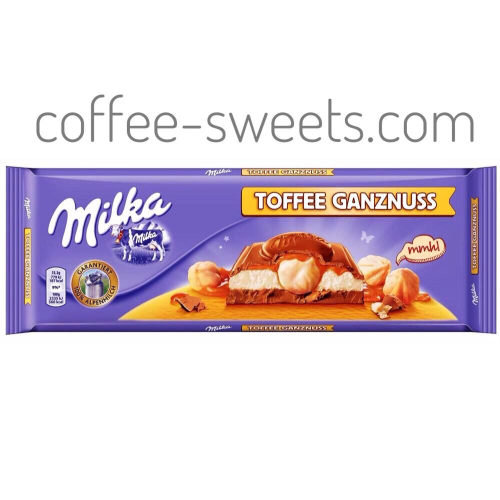 Шоколад Milka 300g Toffee Ganznuss