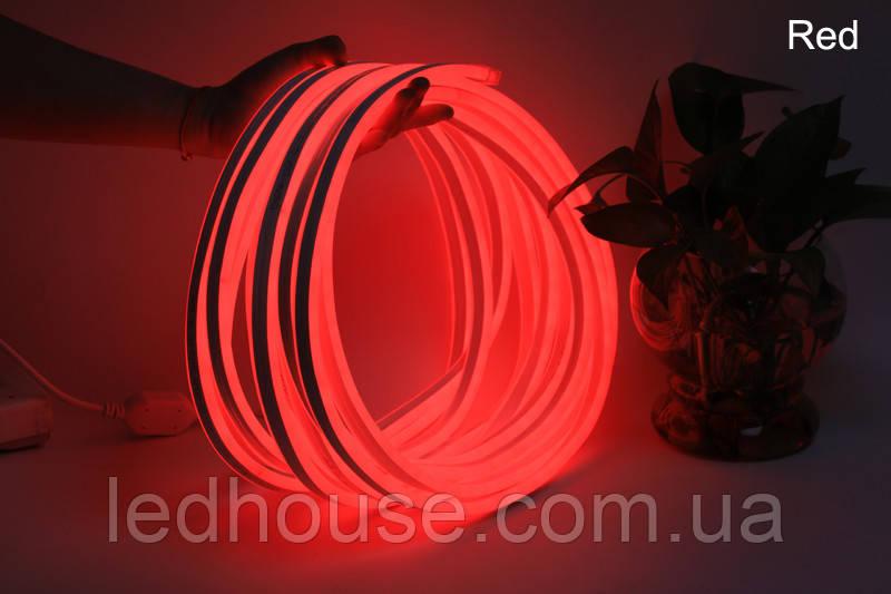 Світлодіодний гнучкий неон 220В 2835/120 Червоний led Premium IP68