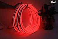 Светодиодный неон гибкий 220В 2835/120 Красный led IP68 Premium, фото 1