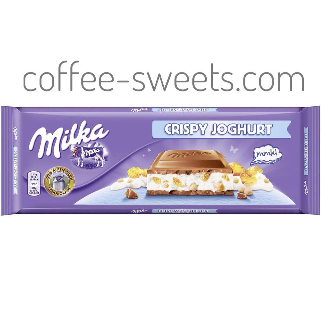 Молочный шоколад Milka Crispy Joghurt 300g