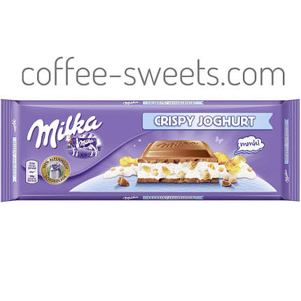 Молочный шоколад Milka Crispy Joghurt 300g, фото 2