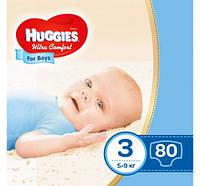 ПодгузникиHuggies Ultra Comfortдля мальчиков   3 , 80 шт. Уцененный товар