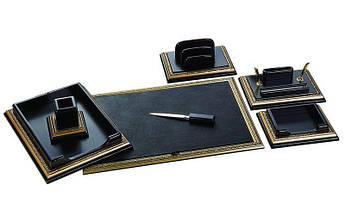 """Настольный набор для руководителя BST 400003 75*44 см чёрно-золотой """"King"""""""
