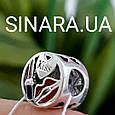 Шарм бусина Пандора Мода - Сердце Помада Губы шарм Пандора Серебро, фото 2