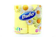 """Туалетная бумага на гильзе двухслойная, желтая """"Диво Soft+"""" (4шт)"""