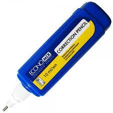 Коректор-ручка Economix, метал. кінчик, 10 мл E41310