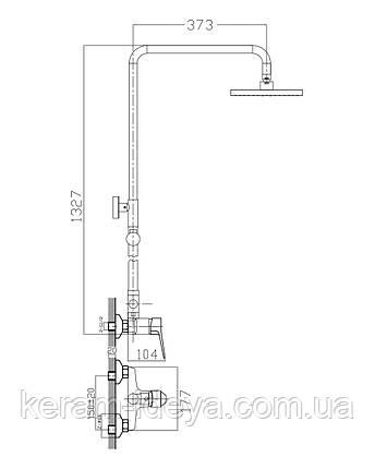 Душевая система IMPRESE WITOW T-15080, фото 2