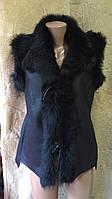Безрукавка жіноча хутряна з натуральної шкіри розмір L