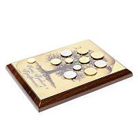 Денежное дерево с монетами картина-подарок из денег