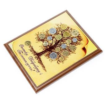Дерево денежное из монет панно