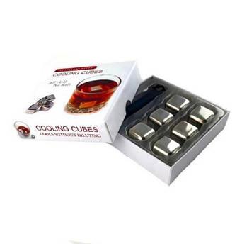 Кубики камни для виски металл набор 6 шт.