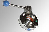 Затвор дисковый нержавеющий(дисковый кран) сварка-сварка пищевой DN100