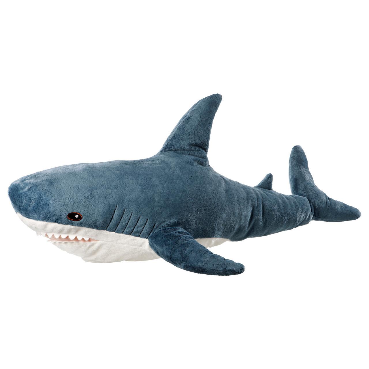 БЛОХЭЙ Мягкая игрушка, акула 30373588 IKEA, ИКЕА, BLÅHAJ