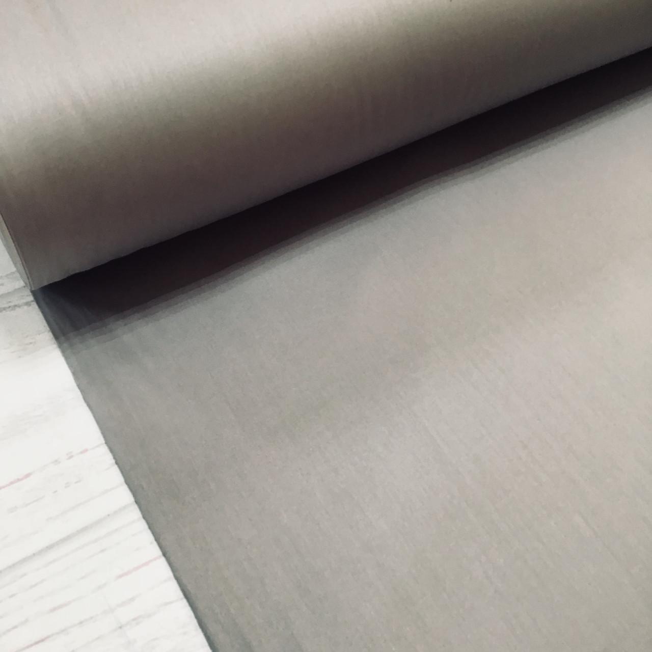 Сатин темно-серый для постельного белья, мерсеризованный (ТУРЦИЯ шир. 2,4 м) №31-50s