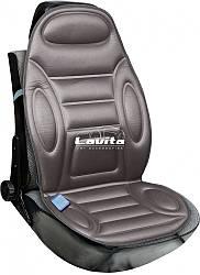 Накидка на сиденье с подогревом Lavita, серая с подголовником 60 Вт/12 В (LA 140402GR)
