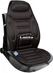 Накидка на сиденье с подогревом Lavita, черная с подголовником 60 Вт/12 В (LA 140402BK)