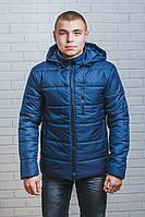 Куртка мужская на синтепоне зима темно-синяя