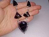 Флюорит колье ожерелье с натуральным флюоритом в серебре Индия, фото 2