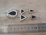 Флюорит колье ожерелье с натуральным флюоритом в серебре Индия, фото 5