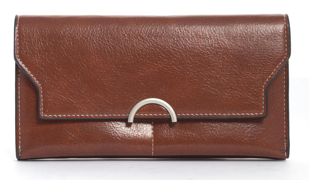 Стильный интересный женский  прочный кошелек Saralyn art. 6605 коричневый