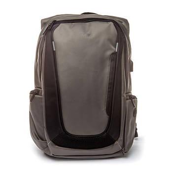 Рюкзак мужской городской с USB Madrid BST 320002 30х15х47 см. серый