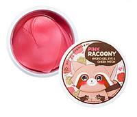 Патчи для глаз с розовой водой и золотом Secret Key Pink Racoony Hydro Gel Eye & Cheek Patch 60 шт.