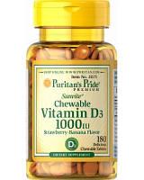 Витамины Puritans Pride Vitamin D3 1000, 180 tabl