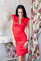 Платье выше колен, грудь вырез-стойка.3 цвета