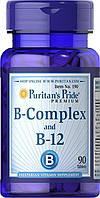 Витамины Puritans Pride B-Complex B-12, 90 tabl, фото 1