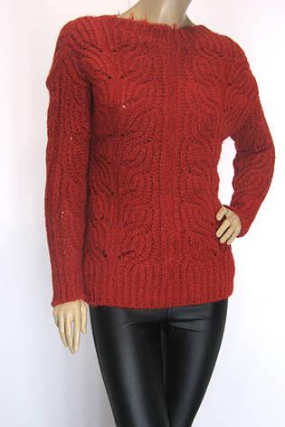 Жіночий теплий вязаний светр, фото 2