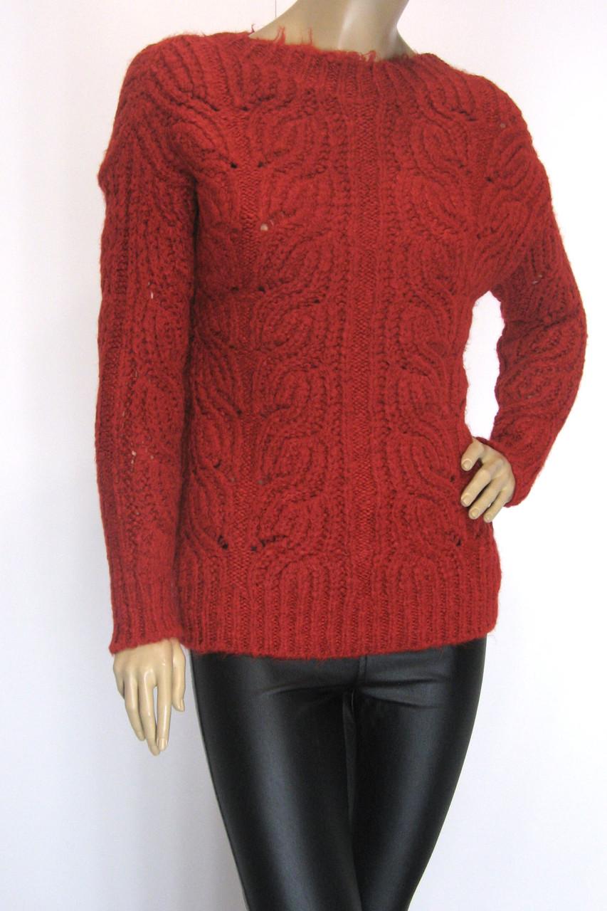 Жіночий теплий вязаний светр