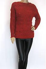 Жіночий теплий вязаний светр, фото 3