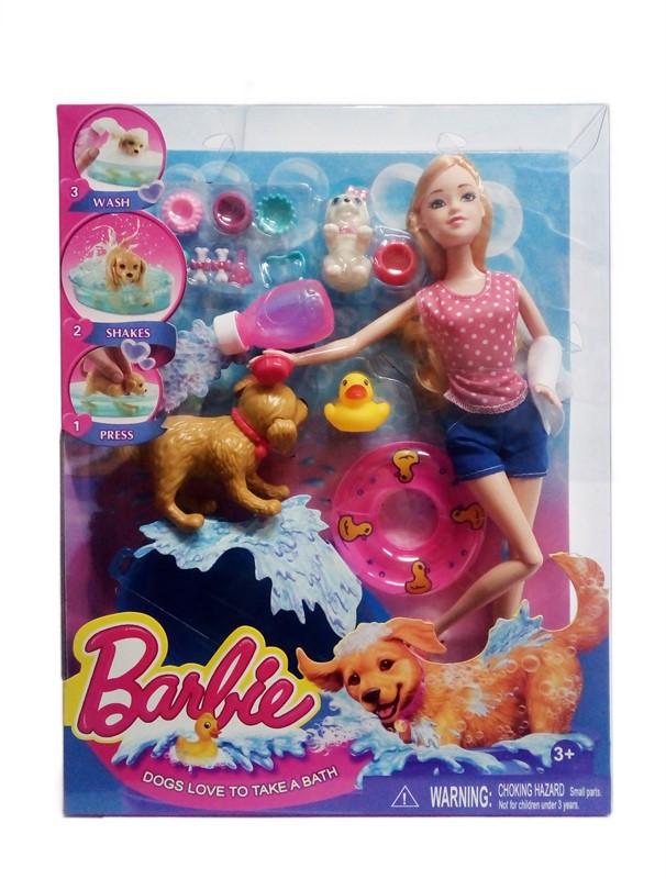 Кукла типа Barbie Dogs Love To Take A Bath Купание Щенков