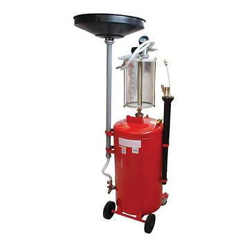 Установка вакуумна для зливу масла з передкамерою і лійкою INTERTOOL GT2100