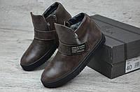 Мужские зимние ботинки Zangak  коричневые (Реплика ААА+), фото 1