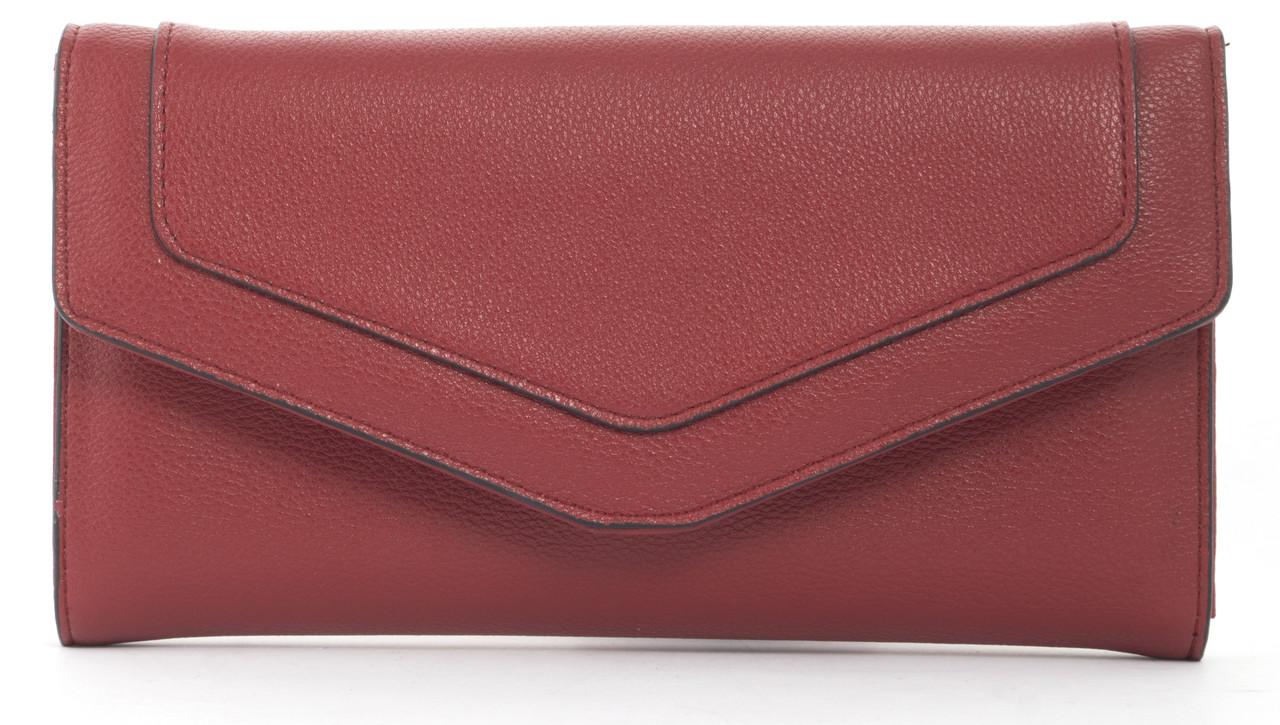 Оригинальный стильный вместительный кошелек высокого качества SAARALYNN art. C-82161 красный