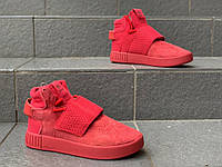 Женские кроссовки осенние\весенние Adidas Tubular Red Реплика, фото 1
