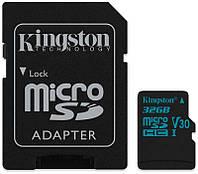 Карта памяти Kingston microSDHC/SDXC UHS-I U3 Class 10 Canvas Go SD-адаптер 32Gb, фото 1