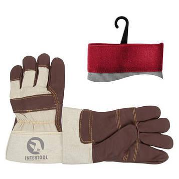 Шкіряна рукавичка утеплена INTERTOOL SP-0013