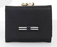Женский маленький многофункциональный прочный вместительный кошелек TAILIAN art.T7368-048 черный, фото 1